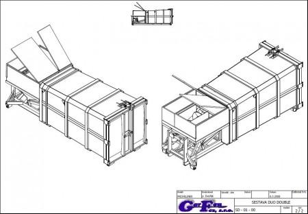 Kup teď DWMK-d mobilní šnekový kontejner dvoukomorový