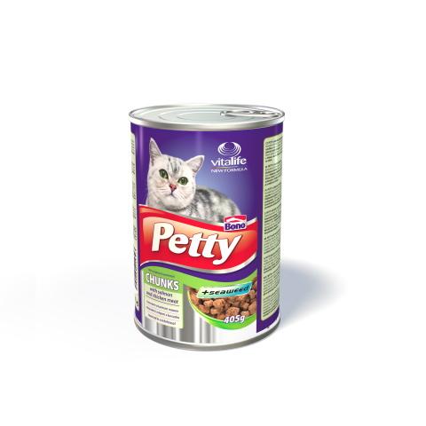 Konzervy pro kočky Šťavnaté kousky masa v omáčce Chunks
