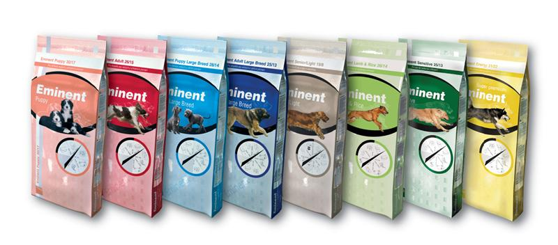 Koupím Kompletní krmiva pro psy Eminent