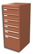 Kup teď Sdružené domovní schránky - průchozí, šikmé (typ SDS)