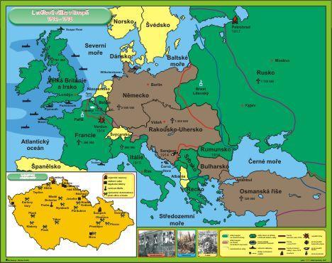 Mapa I Svetova Valka V Evrope Buy In Svitavy On Cestina
