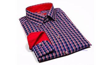 Kup teď Košile Eterna Redline - modrá s kostičkou v trikolóře