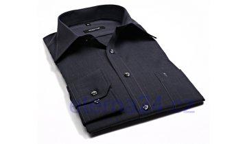 Kup teď Košile Eterna Blackline Uni Popeline - černá - prodloužený rukáv