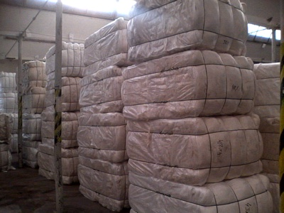 100% Cotton clippings white