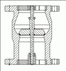 Zpětné ventily do svislého potrubí typu KM 9901.1