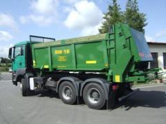 Rozmetadlo hnoje RM 16, na nákladní automobily