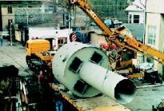 Odlučovač nečistot pro plynovody, prům. 3500mm, hmotnost 18 tun