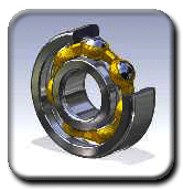 Rings rotary for ball and roller bearings
