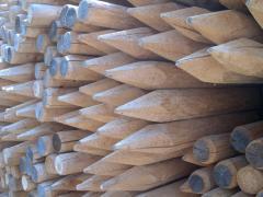 Impregnované dřevené kůly