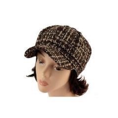 Dámský vlněný baret TINA hnědý