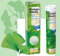 Šumivé tablety Ginkgo biloba 60 + zelený čaj