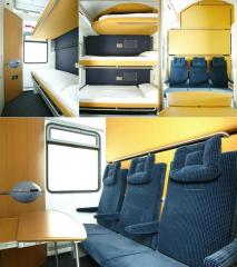 Complexes of furniture for the carriage