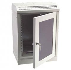 Rozvaděč nástěnný 4U/280mm skleněné dveře