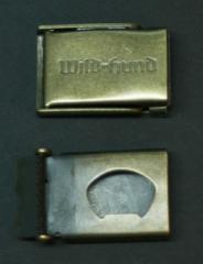 Opasková přezka s logem Wild und Hund PL1