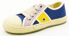 Dětská vycházková kombinovaná obuv textil + useň