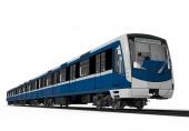 Moderní souprava metra pro rozchod 1524 mm.