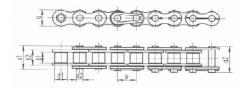 Válečkové řetězy podle DIN 8187 (evropská řada) -