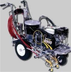 Stroje pro vodorovné dopravní značení Titan  6900
