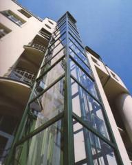 Výtahové šachty sklenené
