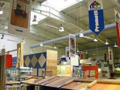 Supermarkety, shromažďovací prostory