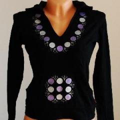 Malovaná mikina Černá lila
