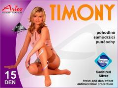 Pohodlné punčochy samodržící s krajkou Timony