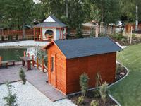 Venkovní saunové kabiny