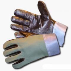 Ochranné rukavice pětiprsté kombinované 2474/130