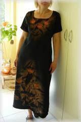 Batikované šaty - Tropická noc