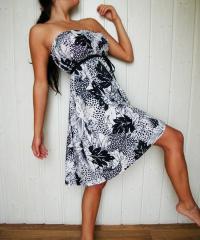 Šato-sukně černobílá