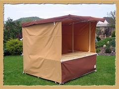 Prodení stánky - s dřevěnou konstrukcí 200 x 250