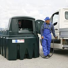 Nadzemní dvouplášťová nádrž na motorovou naftu