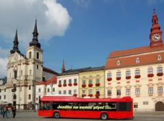 Plynový autobus v Jihlavě