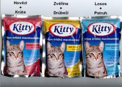Krmivo pro kočky Kapsa 100g Losos+Pstruh