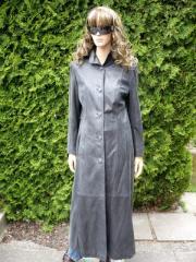 Kožený kabát dámský kůže teletina krystal