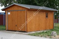 Dřevěná garáž