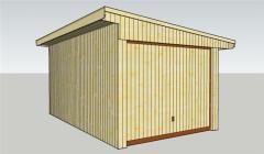 Garáž dřevěná 3x5m