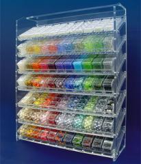 Stands made of plexiglass