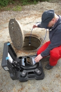 System for sewer videoinspection