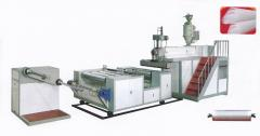 Machines for rewinding of rolled materials