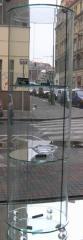 Skleněné ohýbané vitríny