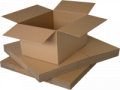 Boxes made of double-double face corrugated board
