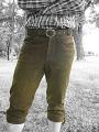 Kožené podkolení kalhoty