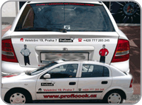 Order Publication of advertisement at outdoor and indoor surfaces, vehicles