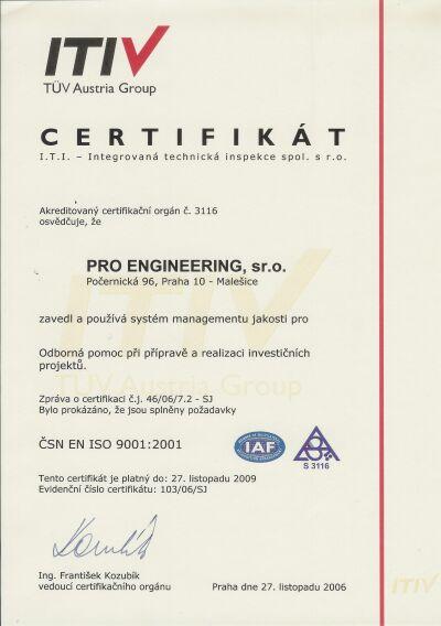 Objednávka Certifikace systému managementu kvality