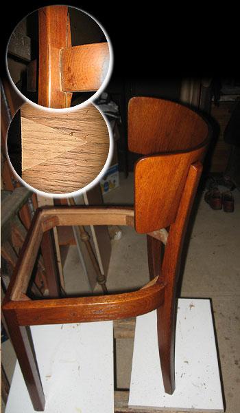 Objednávka Restaurování židli
